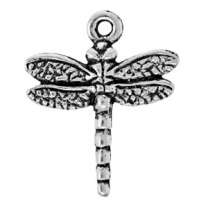 Tierracast Pendant 20mm Dradonfly Antique Silver