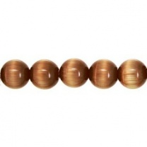 Cats Eye Bead round 6mm Brown