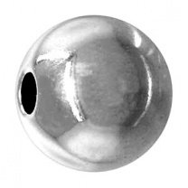 Metal Bead round 3mm Bright
