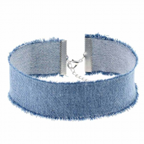 Jeans Halsband 30cm Denim Light
