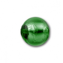 Silver Foiled Ball 8mm Emerald