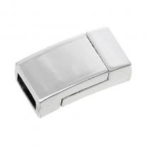 Rectangle Magnetic clasp 10 x 2mm Silver plated