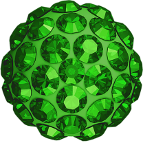 Strass Bead half drilled 10mm Swarovski Peridot