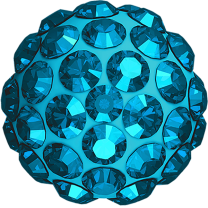Strass Bead half drilled 8mm Swarovski Aquamarine