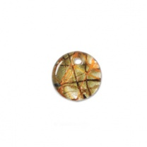 Glass Pendant 19mm round Amber