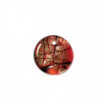 Glass Pendant 19mm round Red