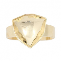 Ring Setting Gold Plated 12mm for Swarovski Trilliant 4706