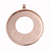 Bezel cup round Rose Gold Plated 25mm Swarovski Rocks