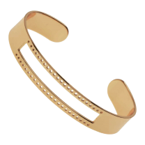 Beadable Cuff Bracelet Gold 61mm Stainless steel