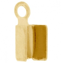 Cord End 3.2mm Gold Plated