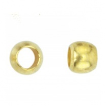 Crimp Bead 2mm Gold Plated