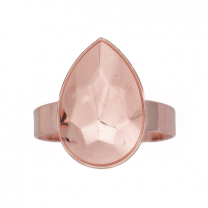 Ring Setting Rose Gold Plated 14mm for Swarovski Pear 4320