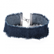 Denim Choker 30cm Denim Navy Blue