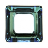 SWAROVSKI 4439 14mm Square Bermuda Blue