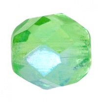 Czech Bead 4mm round Emerald AB