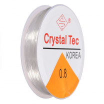 Crystal Tec Stretchgummi 0.8mm Transparent
