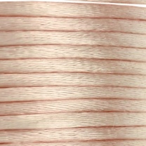 Round Satin cord 3mm beige