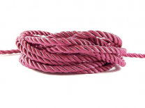 Twisted Round Polyester Cord 5mm Pink