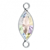 SWAROVSKI Link Charm 9mm Crystal AB Rhodium plated
