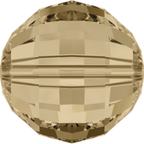 SWAROVSKI 5005 8mm Chessboard Perle Golden Shadow