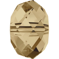 SWAROVSKI 5040 6mm Briolette Bead Golden Shadow
