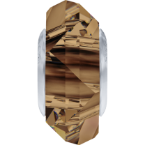 SWAROVSKI 5929 14mm Charm Light Smoked Topaz Steel