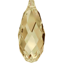 SWAROVSKI 6010 11mm Briolette Bead Golden Shadow