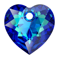 SWAROVSKI Heart 6432 10.5mm Bermuda Blue