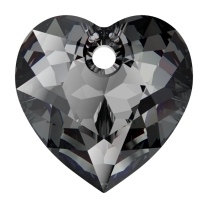 SWAROVSKI Heart 6432 10.5mm Silver Night