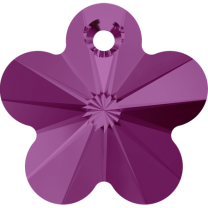 SWAROVSKI 6744 12mm Bead Flower Fuchsia