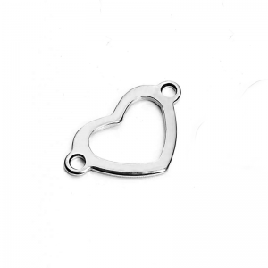 Link Heart 22 x 14mm Stainless Steel