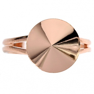 Ring 14mm Rose Gold Verstellbar Swarovski Rivoli 1122