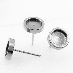 Round Earstuds 8mm Stainless Steel