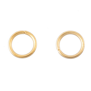Open Jump ring 8mm Gold Plated
