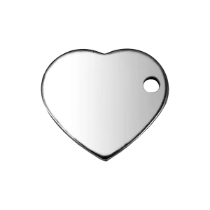 Charm Heart 11mm Stainless Steel