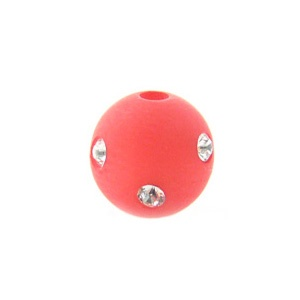 Polaris 10mm Rot Satin mit Swarovski Crystal