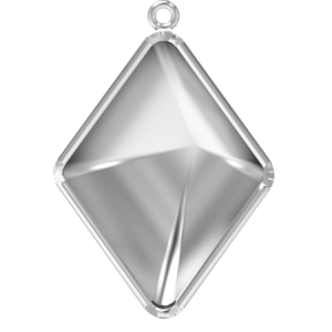 Premium Pendant Setting 14mm Rhodium plated Swarovski 4929