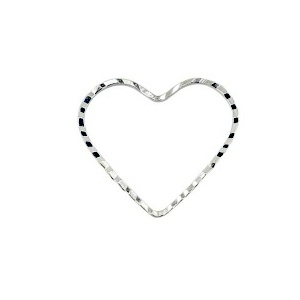 Ring Heart 20 x 22.5mm Silver Plated