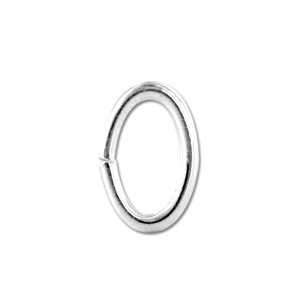 Ring Oval 3 x 4mm Silver