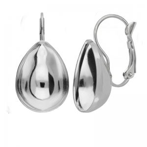 Earring Rhodium Plated 10mm for Swarovski 4320
