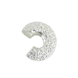 Crimp Bead 4mm Diamond Cut Silver Plated