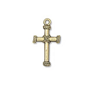 Charm 23mm Cross Antique Gold Plated Plated