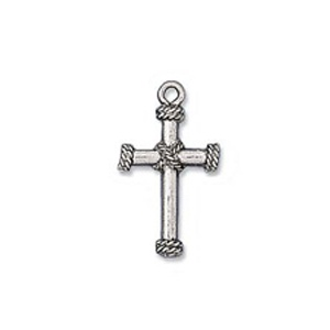 Charm 23mm Cross Antique Silver Plated
