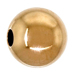 Metal Bead round 5mm Gold Plated