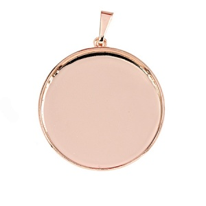 Bezel Cup Rose Gold Plated 12mm for Swarovski Rivoli 1122