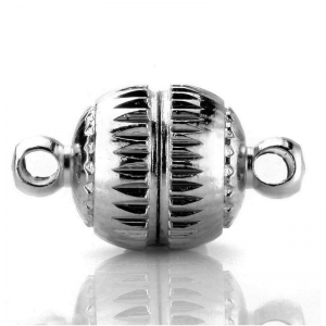 Magnetic Clasp 14mm round Bright