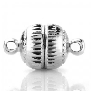 Magnetic Clasp 14mm round Silver Plated