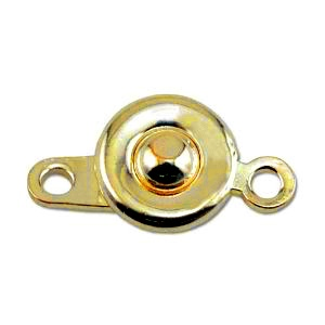 Ball and Hitch Clasp 8mm Gold Plated