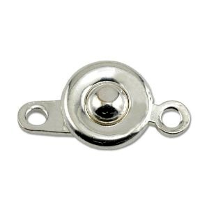 Ball and Hitch Clasp 8mm Silver Plated