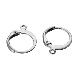 Clip on Earrings 12mm stainless steel
